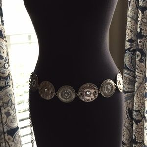 Accessories - Metal and Faux Leather Belt